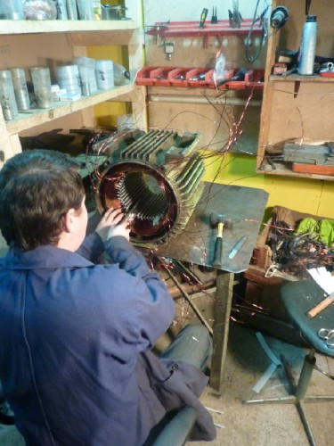 Ремонт электродвигателе